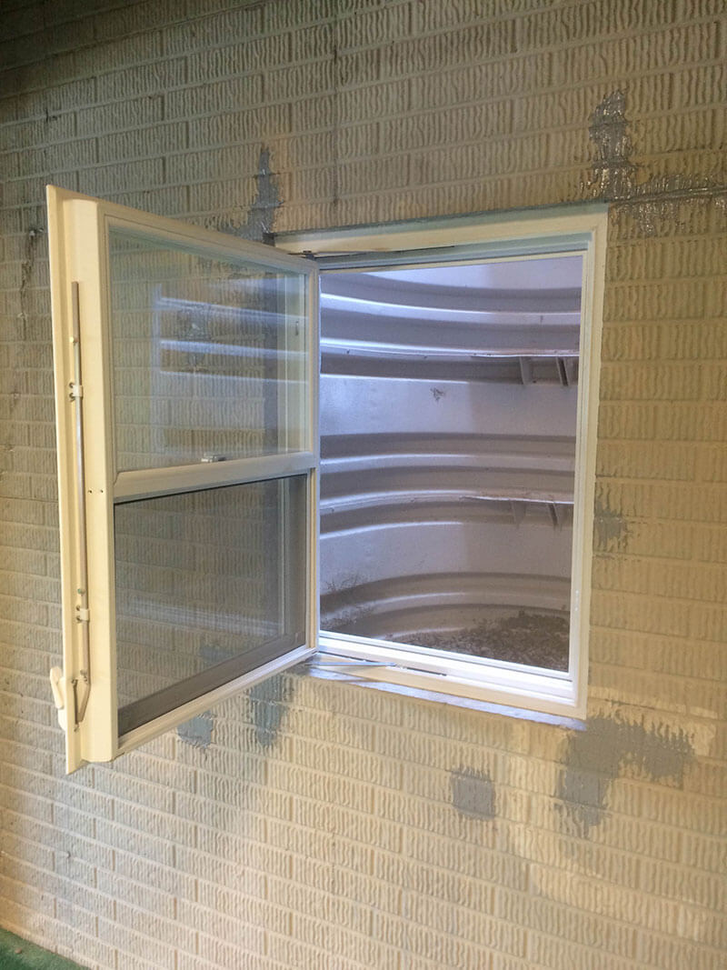 Egress window installation in ripley wv basement doctor wv for How much does it cost to build a walkout basement
