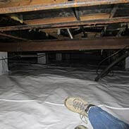 Clean Healthy Crawl Space Encapsulation After