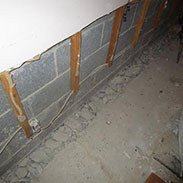 Wet Musty Basement Waterproofing Before