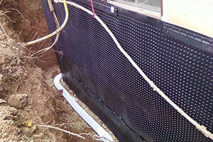 exterior drain systems french drains basement doctor of wv