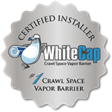 WhiteCap Crawl Space Vapor Barrier Certified Installer Badge